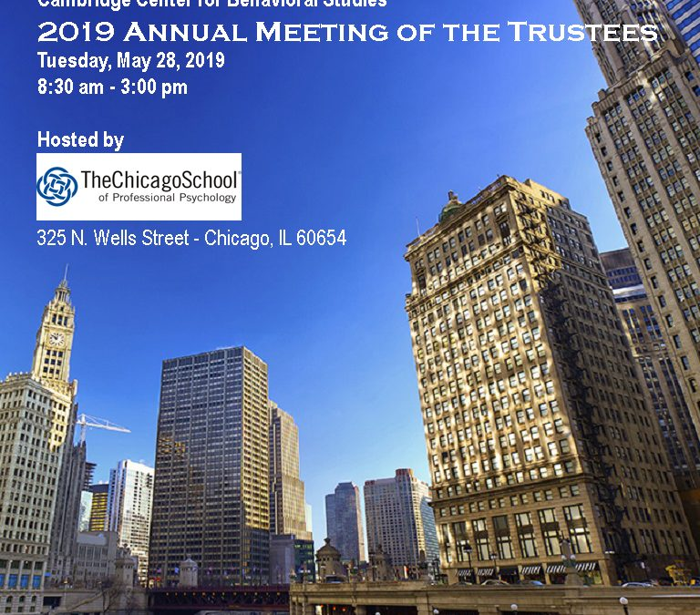 2019 Annual Meeting of the Trustees