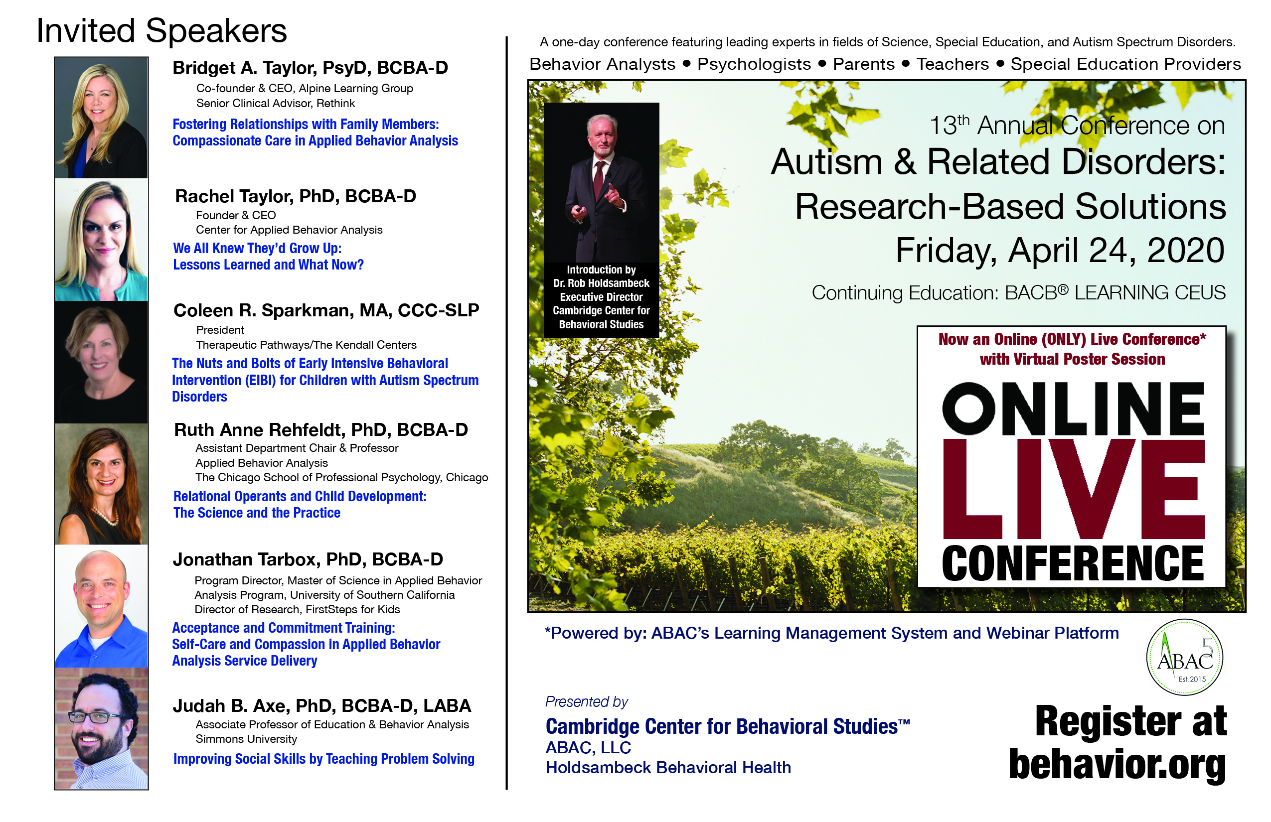13th Annual Autism & Related Disorders Conference: Research-Based Solutions