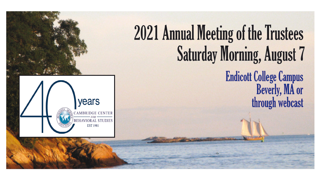 2021 Annual Meeting of the Trustees